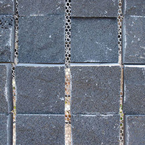 cobblestones on mesh