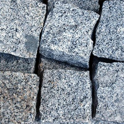 cobblestones white granite